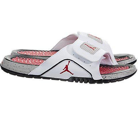 a15a850a056f05 Jordan Nike Men s Hydro IV Retro White Fire Red Black Tech Grey ...