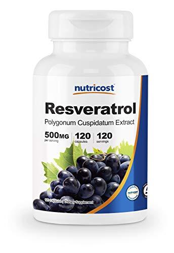 Nutricost Resveratrol 500mg; 120 Capsules - 50% Trans-Resveratrol