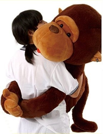 Remeehi The Giant Monkey Stuffed Plush Toy Doll Perfect Bithday Present Kids Gift 110cm
