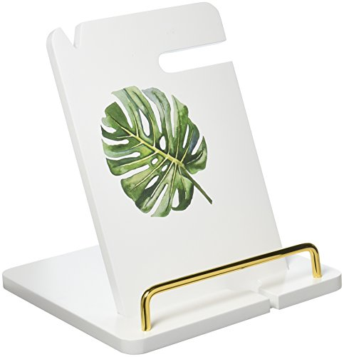 Cathy's Concepts Docking Station Palm Leaf White Lacquer - Leaf Lacquer