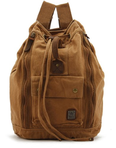 Herebuy - Best Canvas Backpack for Men School Backpack for College (Ginger)