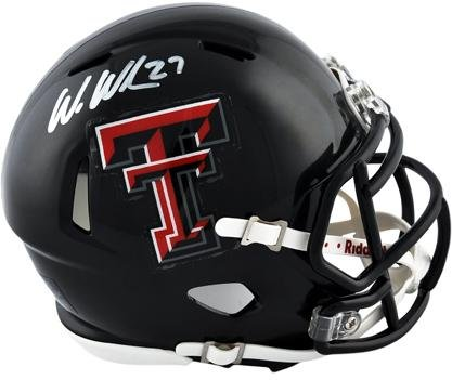 Texas Tech Mini Helmet (Wes Welker Texas Tech Red Raiders Autographed Riddell Mini Helmet - Fanatics Authentic Certified - Autographed College Mini Helmets)