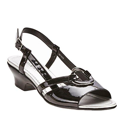Easy Street Tempe vestido sandalias de la mujer Black