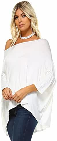 Isaac Liev Batwing Loose Oversized Blouse Top S-XXXL - Made in USA