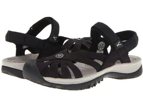 慈悲深い各育成Keen(キーン) レディース 女性用 シューズ 靴 サンダル Rose Sandal - Black/Neutral Gray 8.5 B - Medium [並行輸入品]