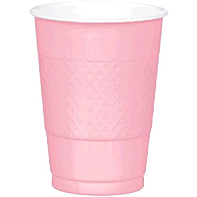 Amscan Reusable New Pink Plastic Cups, 16 Oz., 20 Ct. | Party Tableware: Toys & Games