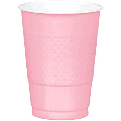 Amscan Reusable New Pink Plastic Cups, 16 Oz., 20 Ct. | Party Tableware
