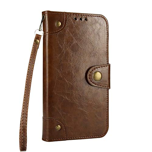 Case Galaxy S9 Plus, Bear Village Flip Wallet PU Leather Case Retro [Card Holder] Folio Bookstyle Cover with Function Stand for Samsung Galaxy S9 Plus (#1 Brown)
