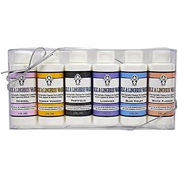 Le Blanc® Silk & Lingerie Wash Gift Set - Six 2 FL. OZ. Sample Bottles of All Silk & Lingerie Wash Fragrances, One Pack