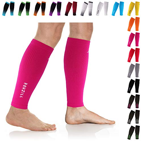 NEWZILL Compression Calf Sleeves (20-30mmHg) for Men & Women - Perfect Option to Our Compression Socks - for Running, Shin Splint, Medical, Travel, Nursing, Cycling (L/XL, Solid -