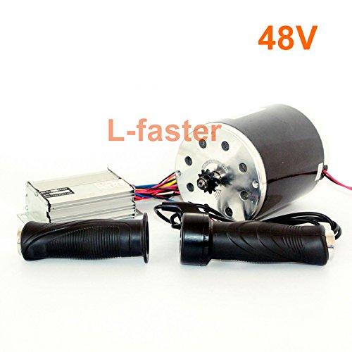 36v48v 1000ワットunitemotor MY1020モーターでスロットルとコントローラ高電力電気スクーターチェーンドライブエンジンdiy gocartキット [並行輸入品] B078MFQFCJ 48V normal kit 48V normal kit