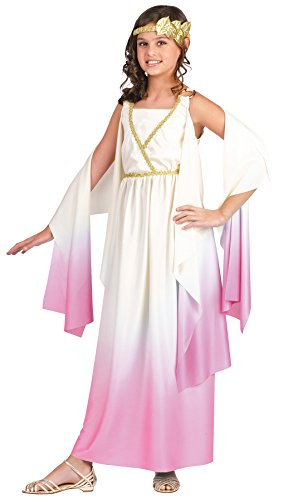 Girl's Goddess Athenus Ombre Child Fancy Dress Outfit Halloween Costume, Child M (8-10) White/Pink]()