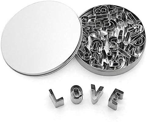 Compra CHIPYHOME Caja con 28 Letras Acero Inoxidable para ...