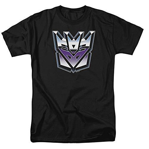 Transformers Decepticon Airbrush Logo T Shirt & Stickers (Medium) Black ()