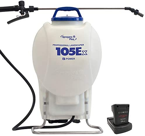 105Ex Effortless Backpack Sprayer – 20V Lithium Long Battery Life with High Grade Seals O-Ring, Brass Wand Nozzle