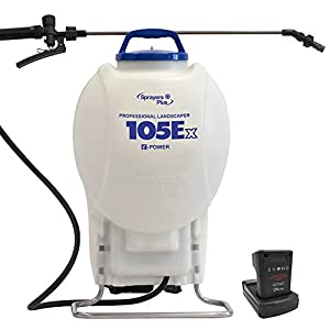 105Ex Effortless Backpack Sprayer – 20V Lithium Long Battery Life with High Grade Seals & O-Ring, Brass Wand & Nozzle