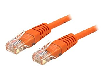 COM 35 ft Cat 6 Orange Molded RJ45 UTP Gigabit Cat6 Patch Cable - 35ft Patch Cord / C6PATCH35OR /: Electronics