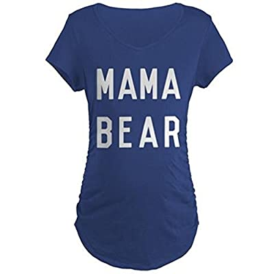 CafePress - Mama Bear Maternity T-Shirt - Cotton Maternity T-shirt, Cute & Funny Pregnancy Tee
