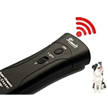 MATOP Ultrasonic Dog Chaser Dog Barking Stop Trainner Device (Black)