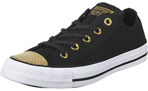 Gold Black Converse All Toecap White Star Damen Metallic Sneaker 1vq0aw4