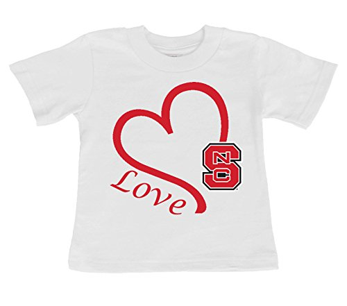 Future Tailgater NC State Wolfpack Love Baby/Toddler T-Shirt (6 - Pajamas State Nc Wolfpack