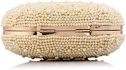 ハンドバッグ、パーソナライズされたダイヤモンドの女性のグースエッグバッグイブニングバッグ、パールバッグバンケットクラッチバッグ、財布、(色:アプリコット) 美しいファッション