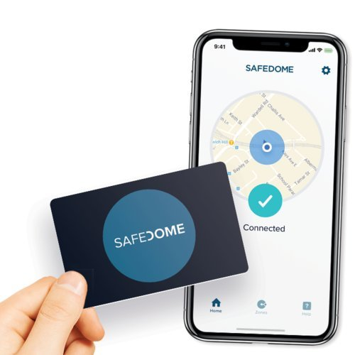 Safedome Classic - The Worlds Thinnest Bluetooth Tracking Card. Easily Find Your Lost Wallet, Bag, Backpack or Phone. Fits Perfectly in Your Wallet or Purse.