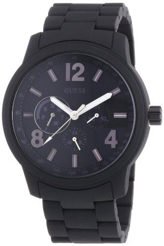 Guess Herren-Armbanduhr XL Analog Quarz Edelstahl beschichtet W0185G1