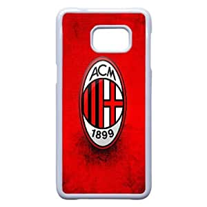 ac-milan For Samsung Galaxy S6 Edge Plus Cell Phone Case White Protective Cover xin2jy-4325015