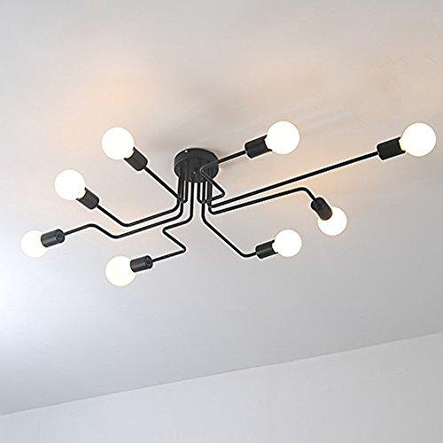 Aero Snail Retro Creative Metal Flush Mount 8-Light Cafe Bar Ceiling Lamp Chandelier Lighting Fixture (Ceiling Lights Bar)