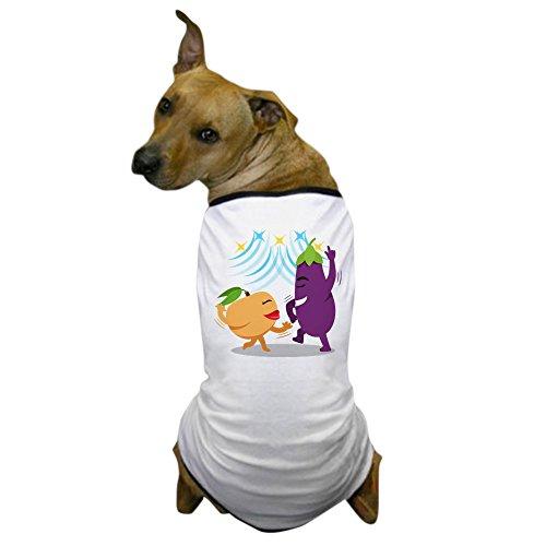 Costume In Tango Dance (CafePress - Emoji Eggplant Peach Dancing - Dog T-Shirt, Pet Clothing, Funny Dog Costume)