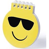 DISOK - Libreta Emoticono Emoji - Libreta de Divertidos diseños Emoji en Llamativo Color Amarillo. De Anillas Blancas…