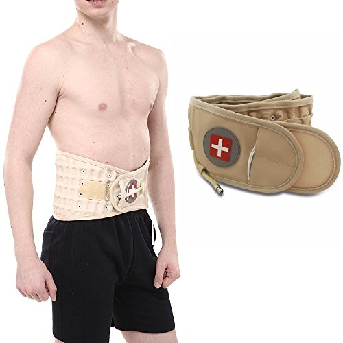 Air-o-back Air Decompression Back Belt Brace Pain Lumbar Support Clinical Grade Traction Decompression Therapy