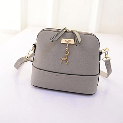 Clearance with with Lightweight Crossbody Tassel Bag Deer CieKen Gray Pendant Small Medium FwrCHxFq