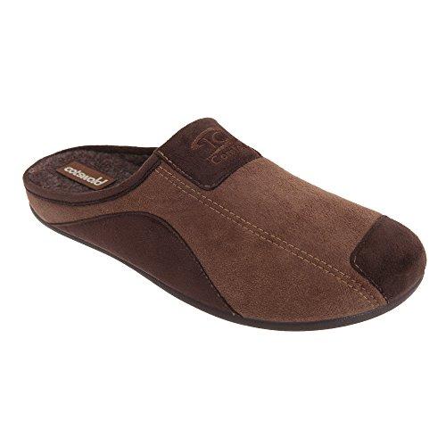 Cotswold Men's Westwell Textile Slipper Shoes Brown eKV123