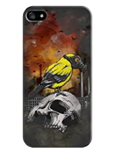 Sangu Birds in Poison gas Skull Hard Back Shell Case / Cover for Iphone 5 and 5s