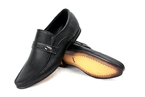 Caballeros Vestido Casual Zapatos Inteligente Oficina Deslizante Trabajo Fiesta Estilo Negro