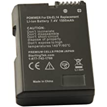 STK EN-EL14 EN-EL14a Battery for Nikon D5500, D3400, D3300, D5300, D5200, D3200, D3100, D5100, DF DSLR, Coolpix P7700, P7000, P7800, P7100 and MH-24 Charger (Fully Decoded)