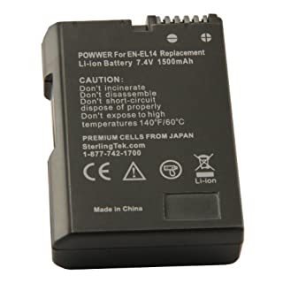 STK EN-EL14 EN-EL14a Battery for Nikon D3400 D5600 D3500 D3200 D3300 D5300 D5100 D3100 D5200 Cameras and Grips