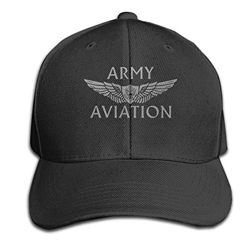 OWNSGWWS US Army Aviation with Aircrew Wing Men Baseball Hat Trucker Hat Dad Cap Plain Cap Black