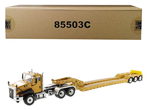 (Diecast Masters Cat Caterpillar CT660 Day Cab with XL 120 Low-Profile HDG Lowboy Trailer and Operator Core Classics Series 1/50 Diecast Model)