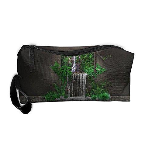 Kla Ju Portable Pen Bag Purse Pouch Surreal Design Stationery Storage Organizer Cosmetic Holder