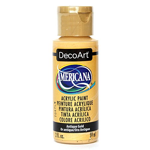 DecoArt Americana Acrylic Paint, 2-Ounce, Antique Gold Decoart Americana Acrylic Paints