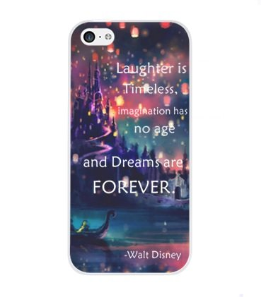 - iPhone 8 Plus / 7 Plus Compatible, Laughter is timeless, imagination has no age and dreams are forever - snap on Case Cover for Apple iPhone