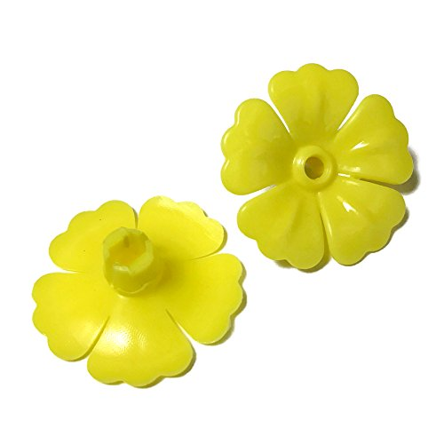 Squirrel Flowers Proof (More Birds 501 Hummingbird Replacement Flowers for Hummingird Feeder, Yellow)