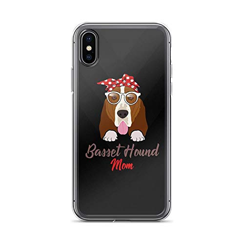 iPhone X/XS Pure Clear Case Cases Cover Basset House Mom - Vintage Dog TPU Anti Bumps Scratches Cover -