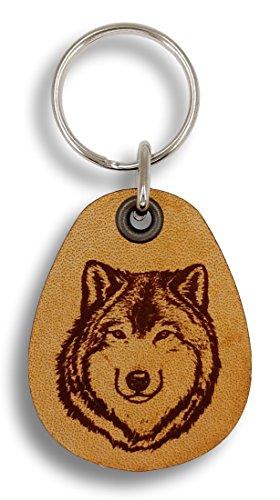 ForLeatherMore - Wolf - Genuine Leather Keychain - Wildlife Keychains