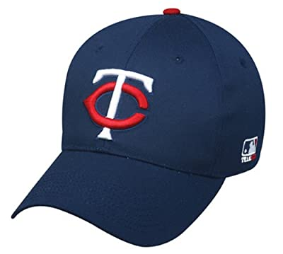 "Minnesota Twins YOUTH (ALT ROAD CAP ""M"" LOGO) Adjustable Velcro Cap - MLB Officially Licensed Major League Baseball Replica Hat by OC Sports - Outdoor Cap Co"