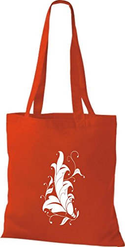 Krokodil - Bolso de tela de algodón para mujer rojo - rojo