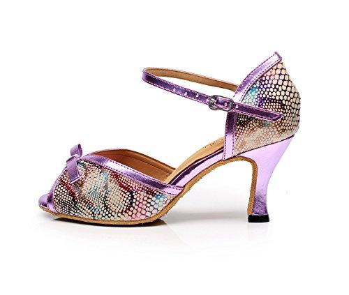 heeled7 5 Para UK5 Zapatos Our39 Latino De Purple Salsa Mujer EU38 Baile Moderno Sandalias Jazz Altos JSHOE Tacones Chacha Samba Tango 5cm UHCqx1aq